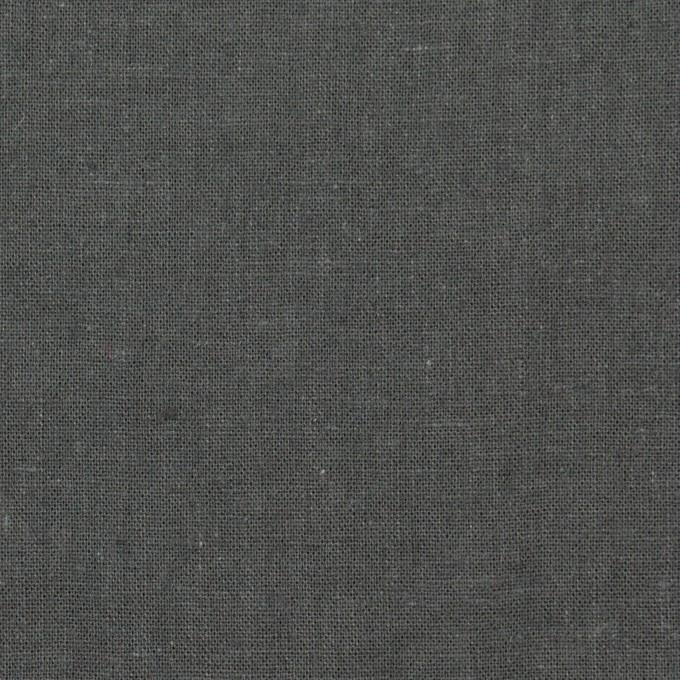 リネン&コットン×無地(チャコールグレー)×シーチング_全36色 イメージ1