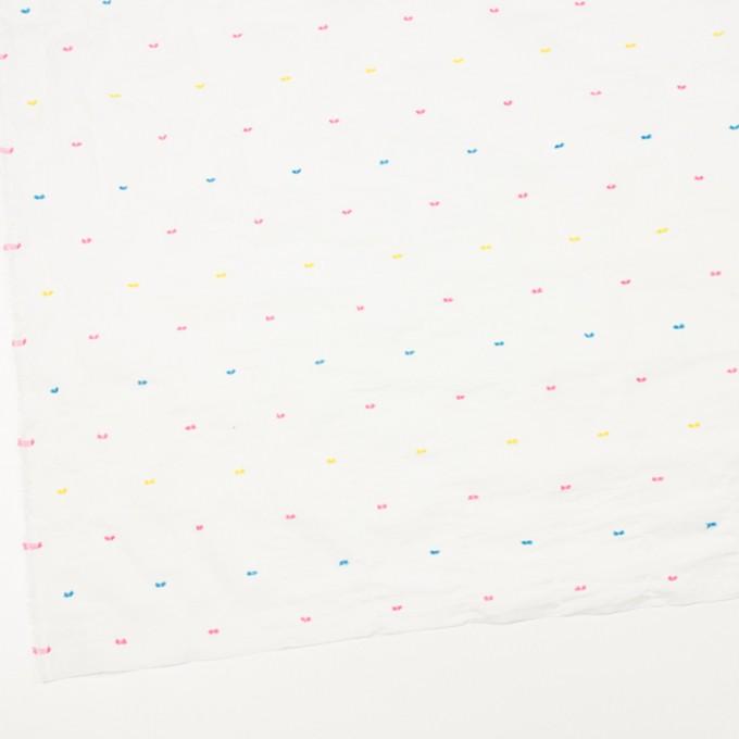コットン&ポリウレタン×ドット(イエロー、ピンク&サックス)×ボイルシャーリング・カットジャガード_全4色 イメージ2