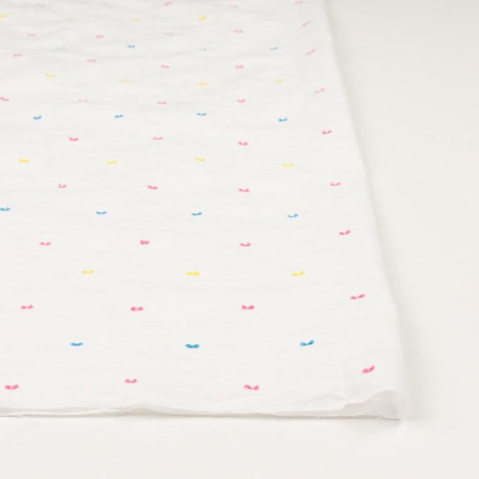 コットン&ポリウレタン×ドット(イエロー、ピンク&サックス)×ボイルシャーリング・カットジャガード_全4色 イメージ3