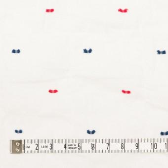 コットン&ポリウレタン×ドット(レッド&ネイビー)×ボイルシャーリング・カットジャガード_全4色 サムネイル4