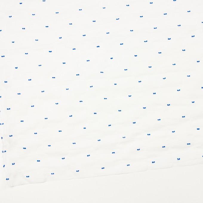 コットン&ポリウレタン×ドット(ブルー)×ボイルシャーリング・カットジャガード_全4色 イメージ2