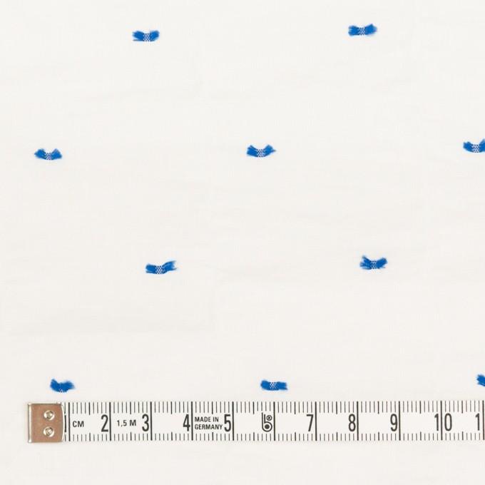 コットン&ポリウレタン×ドット(ブルー)×ボイルシャーリング・カットジャガード_全4色 イメージ4