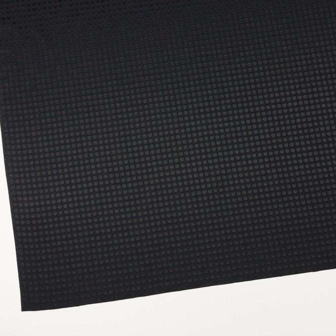 コットン&シルク×水玉(ブラック)×サテンジャガード イメージ2