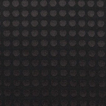 コットン&シルク×水玉(ブラック)×サテンジャガード サムネイル1