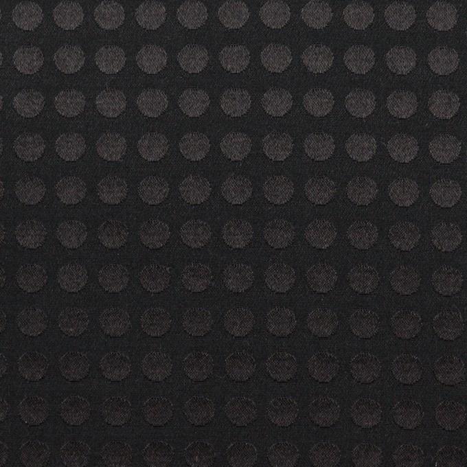 コットン&シルク×水玉(ブラック)×サテンジャガード イメージ1