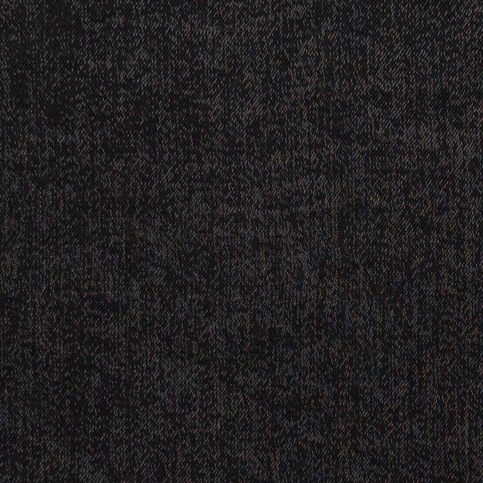 コットン&ポリエステル×無地(ブラック)×サージ イメージ1