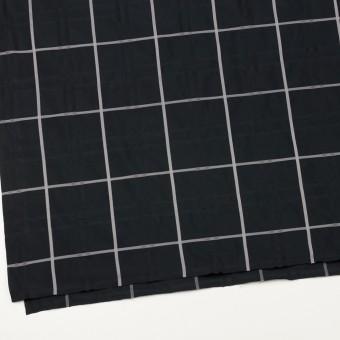 ポリエステル×チェック(ブラック)×形状記憶タフタジャガード サムネイル2