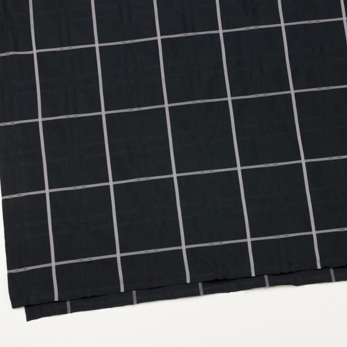 ポリエステル×チェック(ブラック)×形状記憶タフタジャガード イメージ2