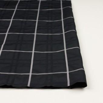 ポリエステル×チェック(ブラック)×形状記憶タフタジャガード サムネイル3