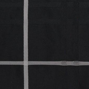 ポリエステル×チェック(ブラック)×形状記憶タフタジャガード サムネイル1