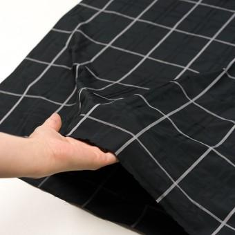 ポリエステル×チェック(ブラック)×形状記憶タフタジャガード サムネイル5