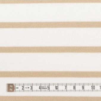コットン×ボーダー(オークル)×天竺ニット_全2色 サムネイル4