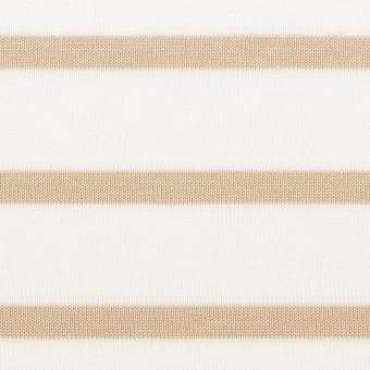 コットン×ボーダー(オークル)×天竺ニット_全2色 サムネイル1