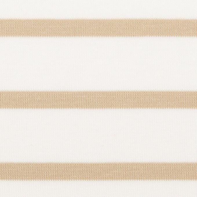コットン×ボーダー(オークル)×天竺ニット_全2色 イメージ1