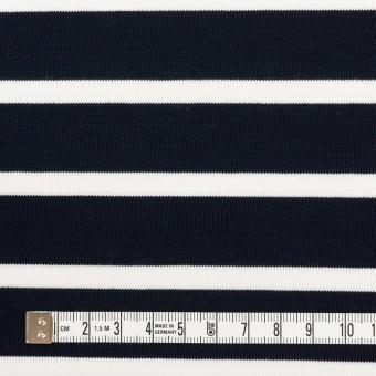 コットン×ボーダー(ダークネイビー&ホワイト)×天竺ニット サムネイル4