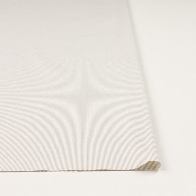 コットン&ポリエステル混×ストライプ(ベージュグレー)×コードレーン・ストレッチ_全3色 イメージ3