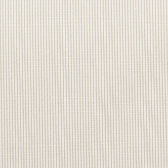 【130cmカット】コットン&ポリエステル混×ストライプ(ベージュグレー)×コードレーン・ストレッチ_全3色
