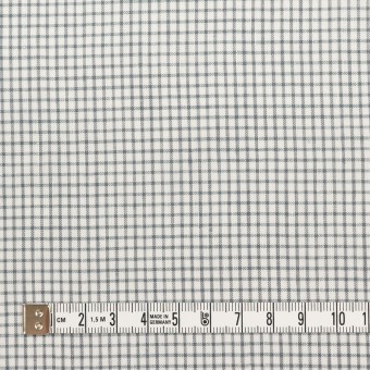 コットン&ポリウレタン×チェック(グレー)×ボイルストレッチ サムネイル4