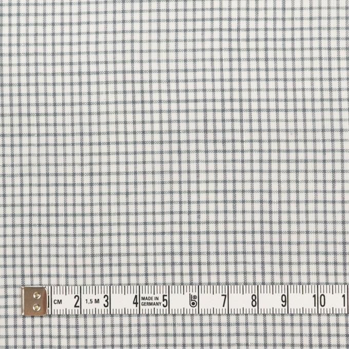 コットン&ポリウレタン×チェック(グレー)×ボイルストレッチ イメージ4