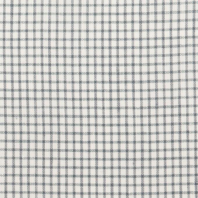 コットン&ポリウレタン×チェック(グレー)×ボイルストレッチ イメージ1