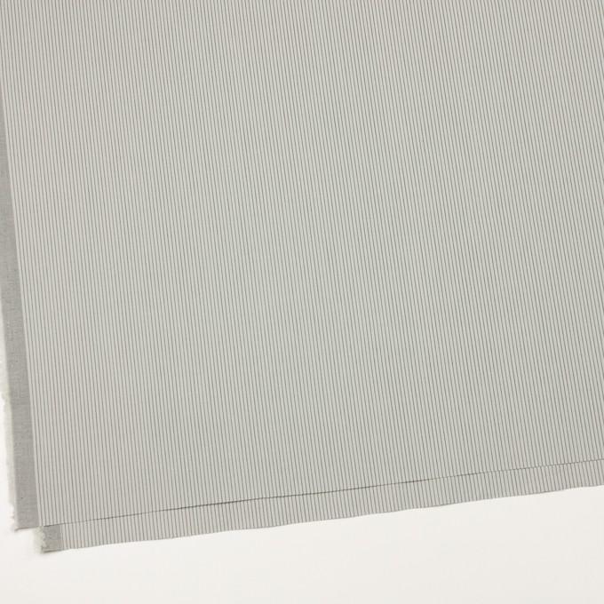 コットン&ポリウレタン×ストライプ(モスグレー)×ポプリンストレッチ イメージ2