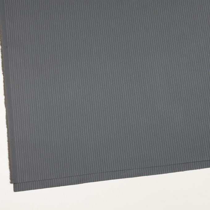 コットン×ストライプ(チャコールグレー)×ヘリンボーン_イタリア製 イメージ2