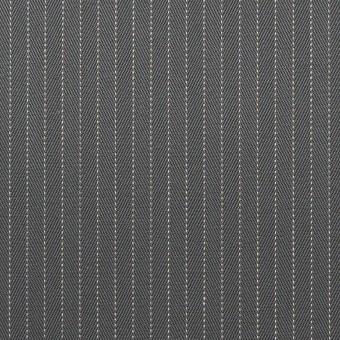 コットン×ストライプ(チャコールグレー)×ヘリンボーン_イタリア製 サムネイル1