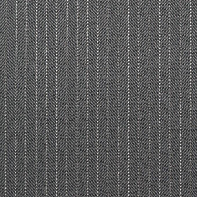 コットン×ストライプ(チャコールグレー)×ヘリンボーン_イタリア製 イメージ1