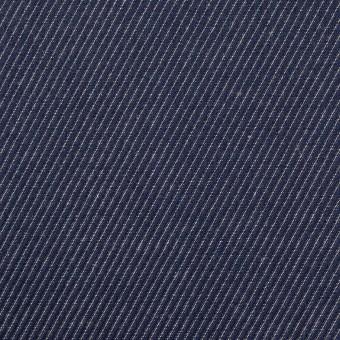 コットン&リネン×無地(ネイビー)×かわり織