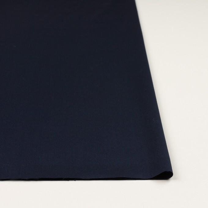 コットン&ポリエステル混×無地(ダークネイビー)×ローンストレッチ イメージ3