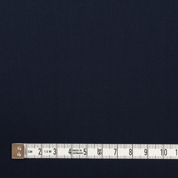 コットン&ポリエステル混×無地(ダークネイビー)×ローンストレッチ イメージ4