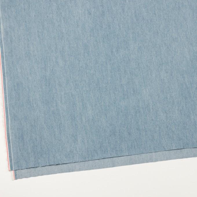 コットン×無地(サックスブルー)×セルビッチ・デニム(5.5oz) イメージ2