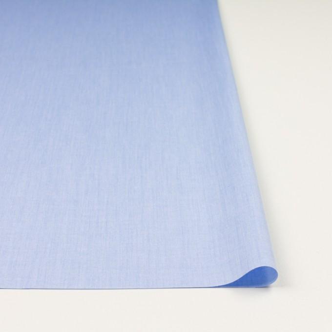 コットン×無地(ブルー)×シャンブレー・ローン_全7色 イメージ3