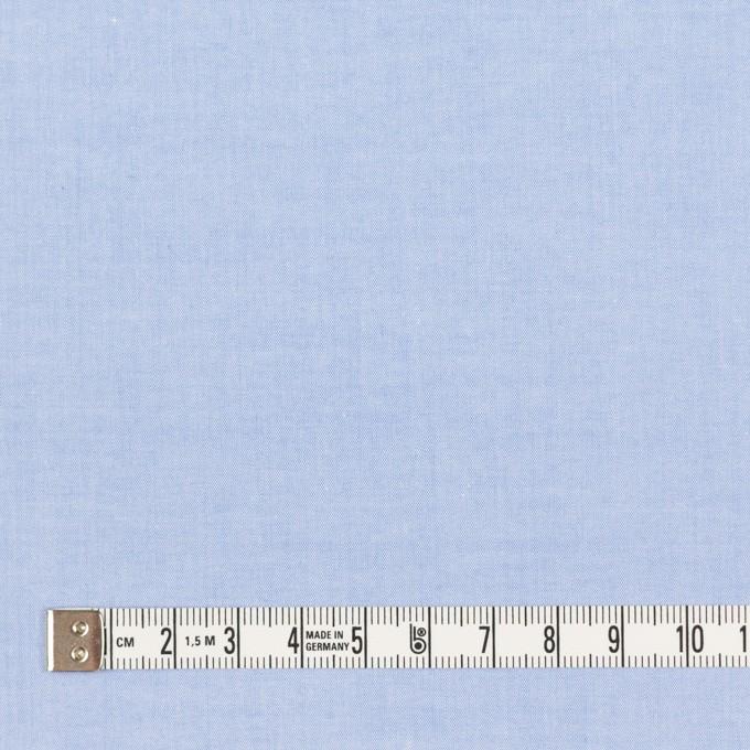 コットン×無地(ブルー)×シャンブレー・ローン_全7色 イメージ4