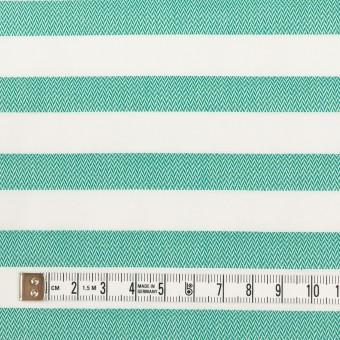 コットン×ボーダー(エメラルドグリーン)×ブロード&ヘリンボーン サムネイル4