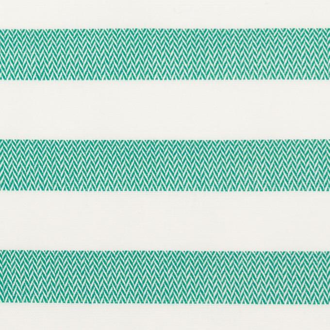 コットン×ボーダー(エメラルドグリーン)×ブロード&ヘリンボーン イメージ1