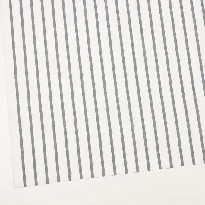 ナイロン&コットン×ストライプ(チャコール)×ブロード_全3色 イメージ2