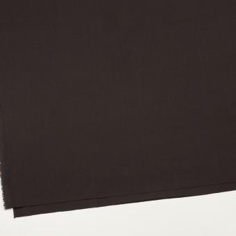 コットン&ウール混×無地(ダークブラウン)×サージストレッチ_全3色_イタリア製 サムネイル2