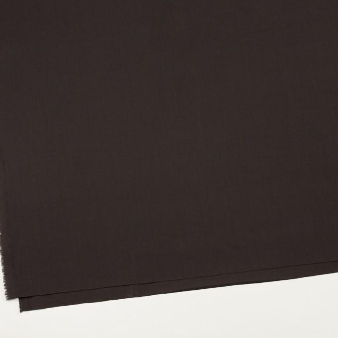 コットン&ウール混×無地(ダークブラウン)×サージストレッチ_全3色_イタリア製 イメージ2