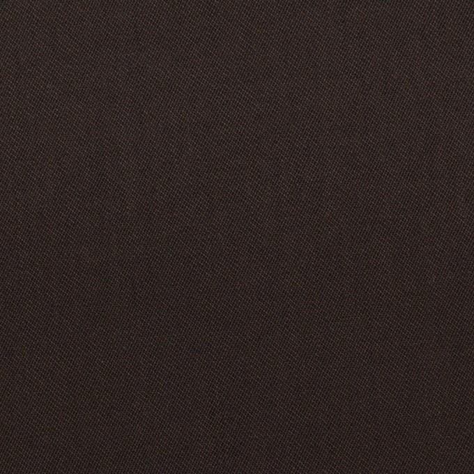 コットン&ウール混×無地(ダークブラウン)×サージストレッチ_全3色_イタリア製 イメージ1