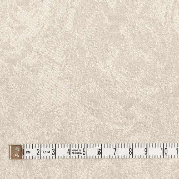 コットン&ポリウレタン×幾何学模様(グレイッシュベージュ)×ジャガード・ストレッチ イメージ4