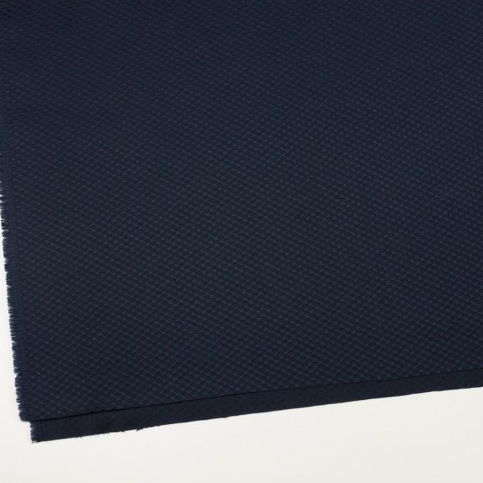 コットン×幾何学模様(ダークネイビー)×アートピケ イメージ2