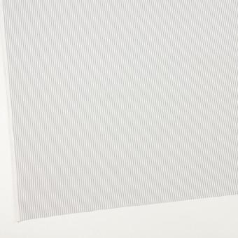 コットン×ストライプ(ライトグレー)×ブロード サムネイル2