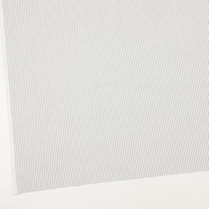 コットン×ストライプ(ライトグレー)×ブロード イメージ2