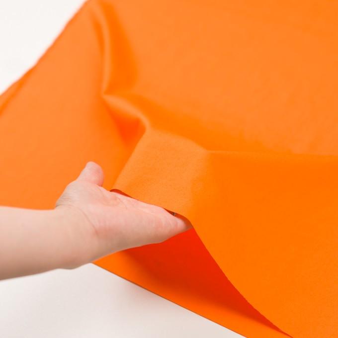 コットン×無地(オレンジ)×ローンワッシャー_全4色 イメージ5
