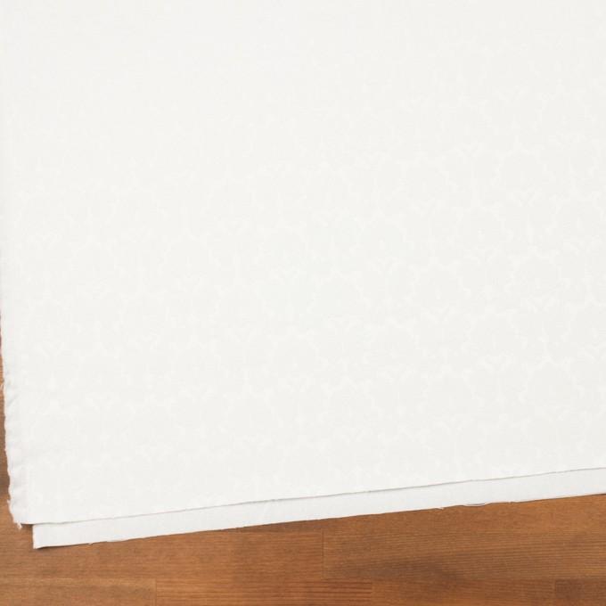 コットン&ポリエステル×幾何学模様(オフホワイト)×サテンジャガード_全4色 イメージ2