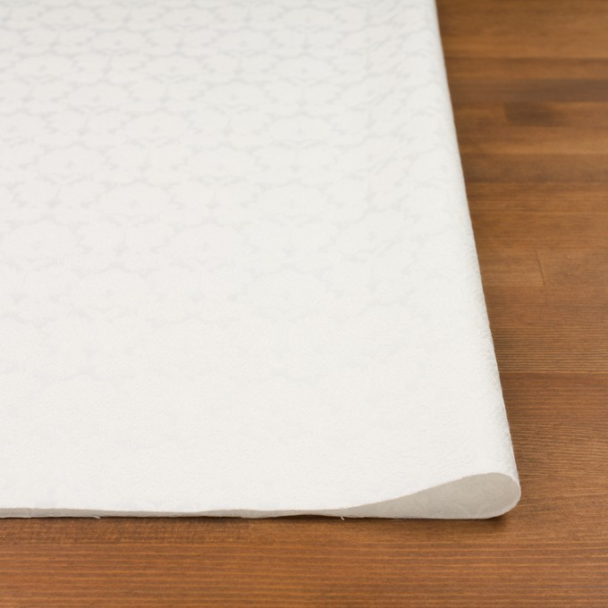 コットン&ポリエステル×幾何学模様(オフホワイト)×サテンジャガード_全4色 イメージ3