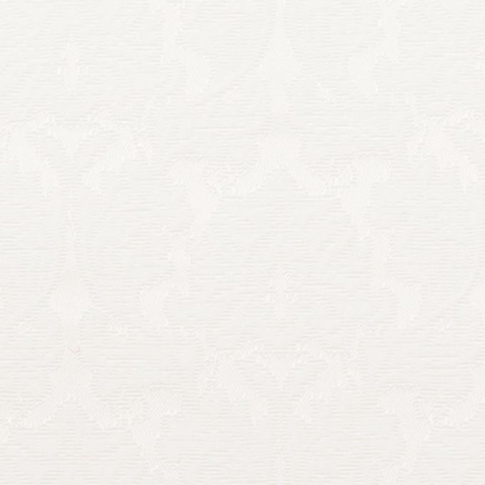 コットン&ポリエステル×幾何学模様(オフホワイト)×サテンジャガード_全4色 イメージ1
