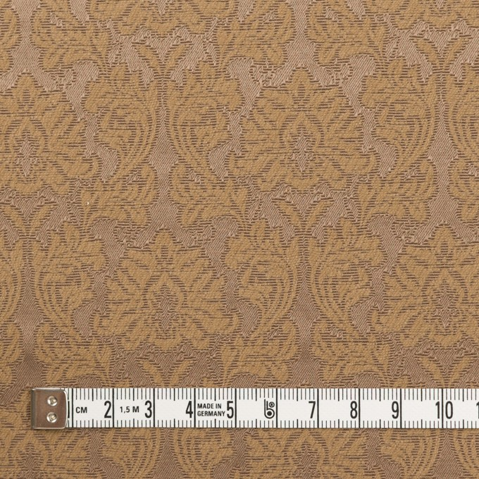 コットン&ポリエステル×幾何学模様(キャラメル)×サテンジャガード_全4色 イメージ4