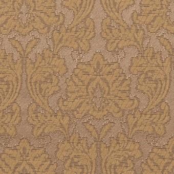 コットン&ポリエステル×幾何学模様(キャラメル)×サテンジャガード_全4色